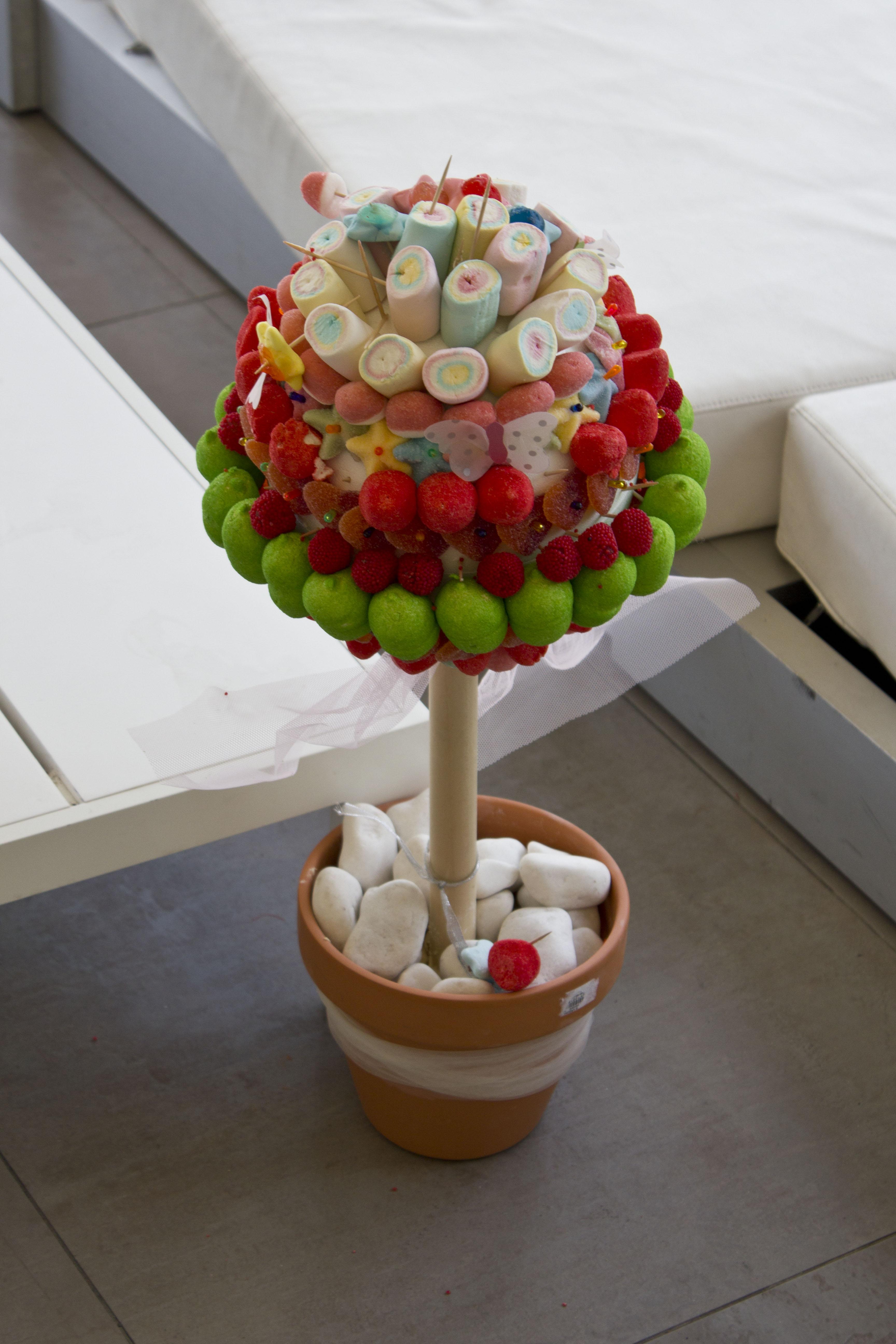 Como hacer tarta de chuches comunion - Como hacer figuras con chuches ...