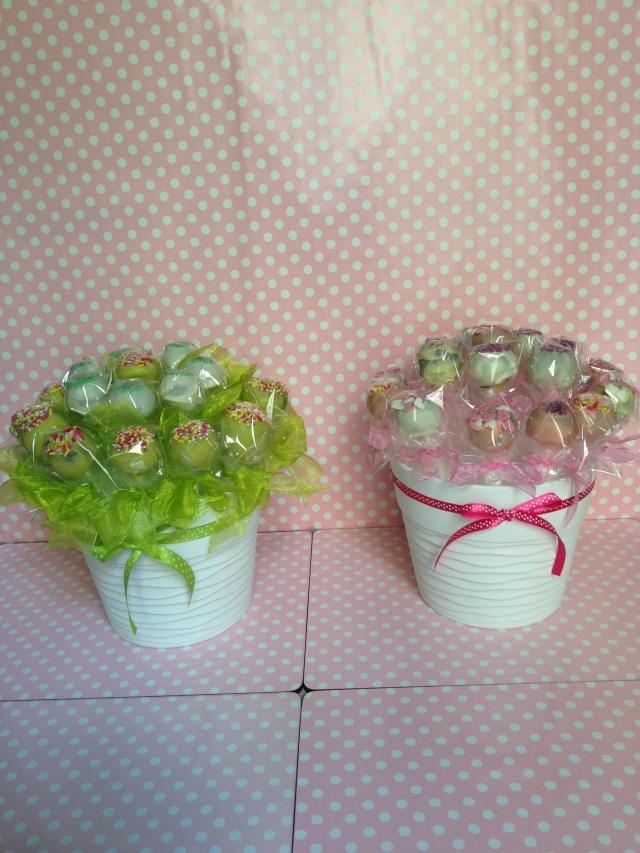 Macetas de Cakepops