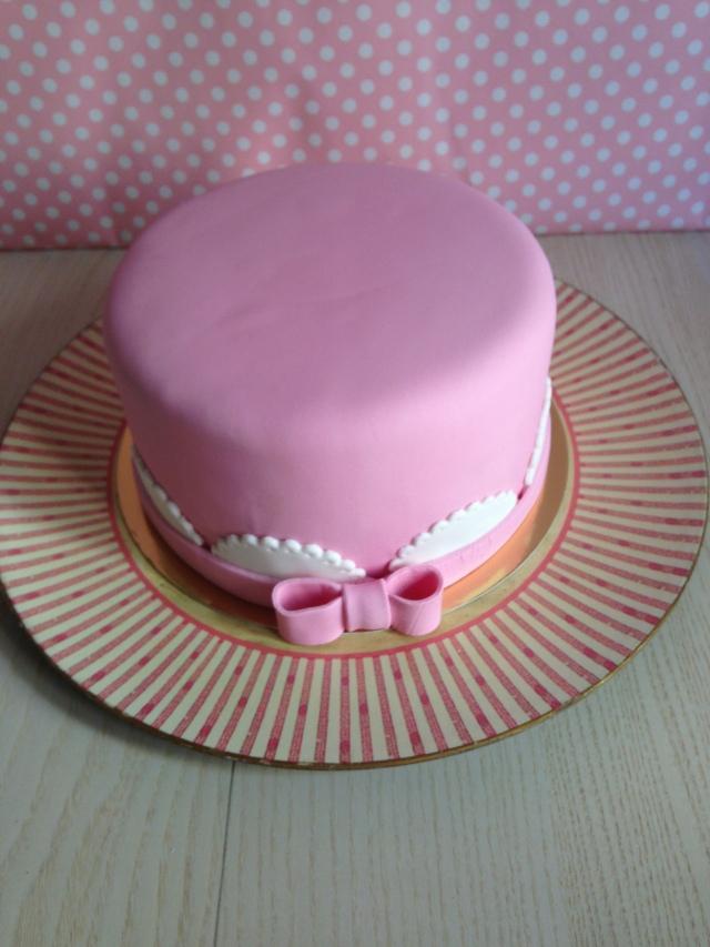 Tarta fondant rosa