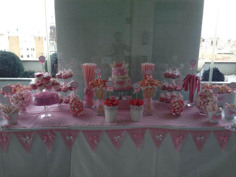 Un bautizo en rosa bocados dedicados - Chuches para bautizo ...