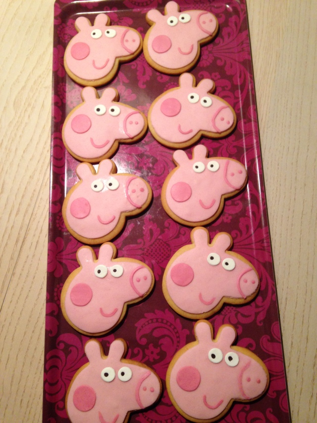 Galletas fondant Peppa Pig