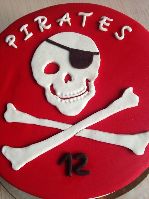 Tarta piratas fondant