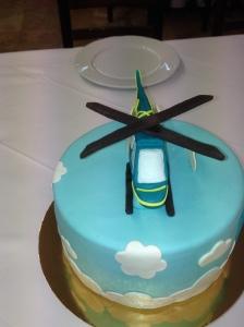 Tarta helicóptero fondant