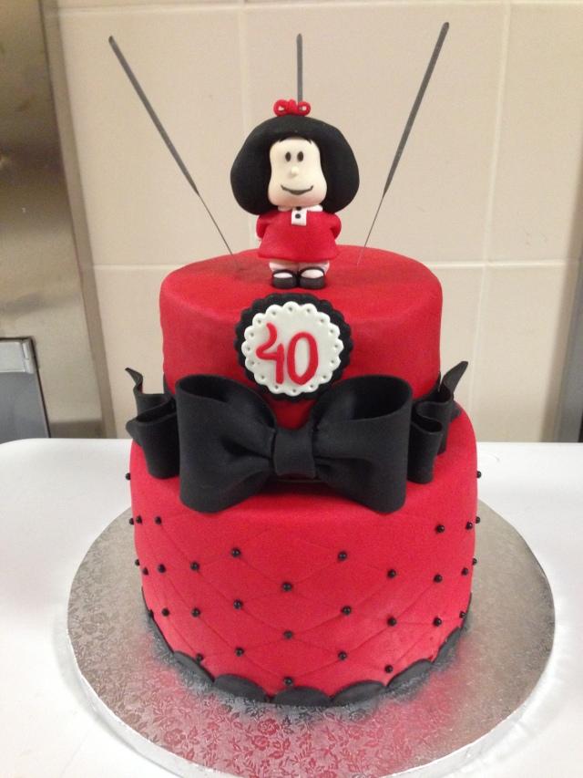 Tarta Mafalda Fondant