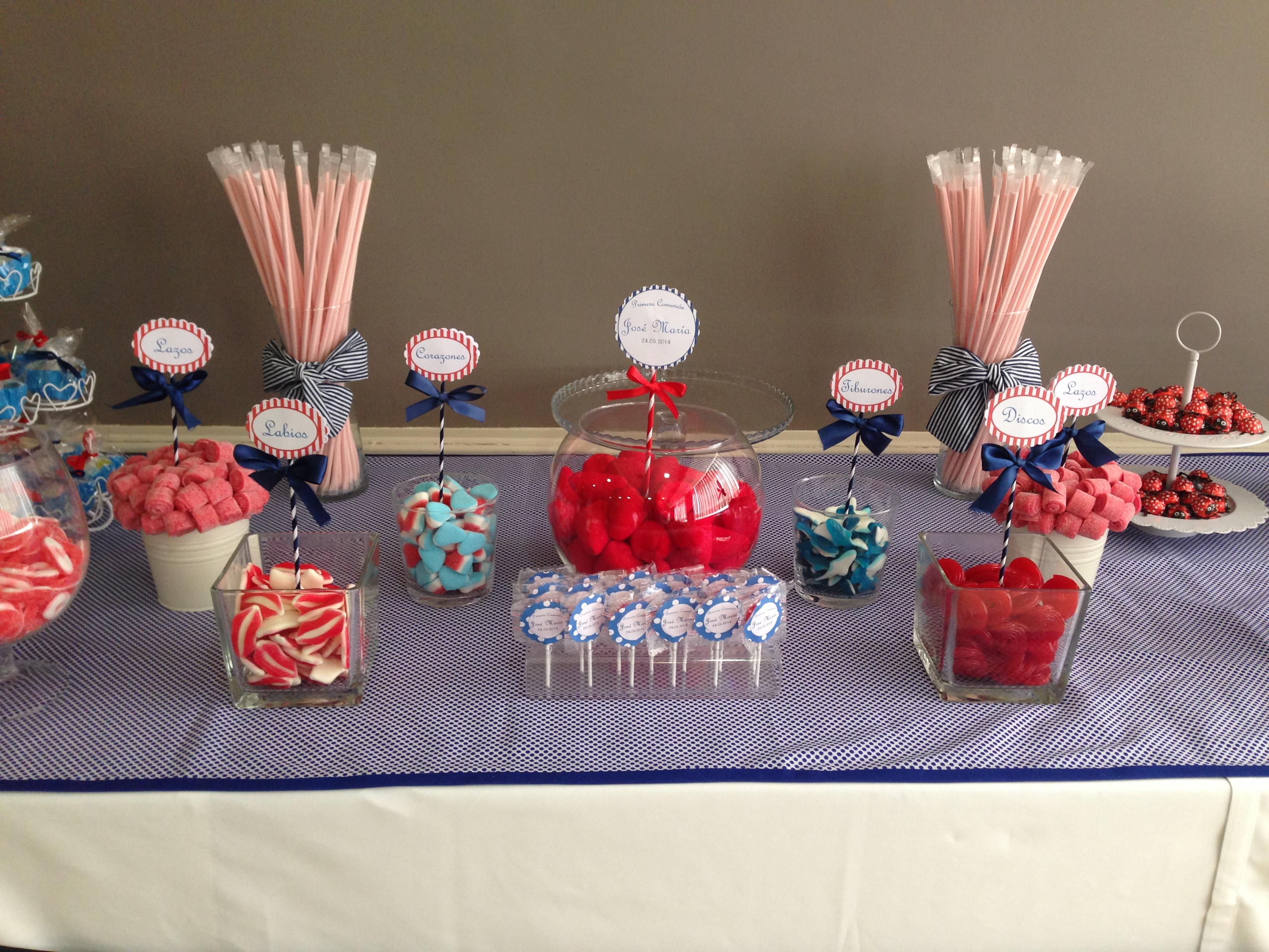 Mesa comuni n astoria bocados dedicados - Decoracion de mesas de chuches para comunion ...