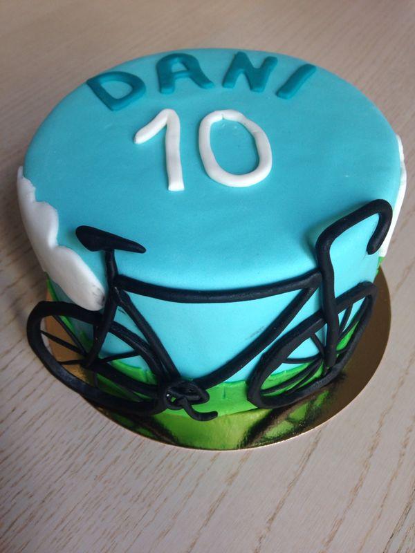 Tarta ciclista fondant