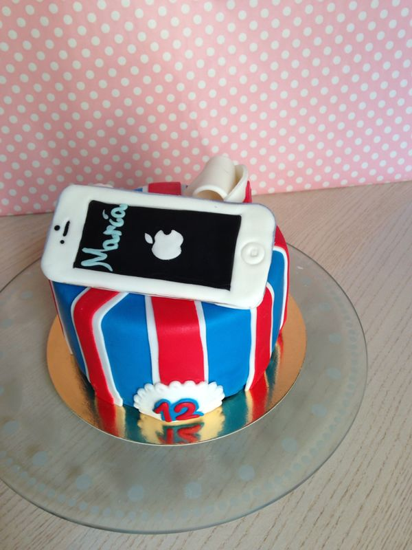 tarta iphone fondant