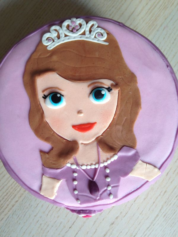 Tarta Princesa Sofía Fondant