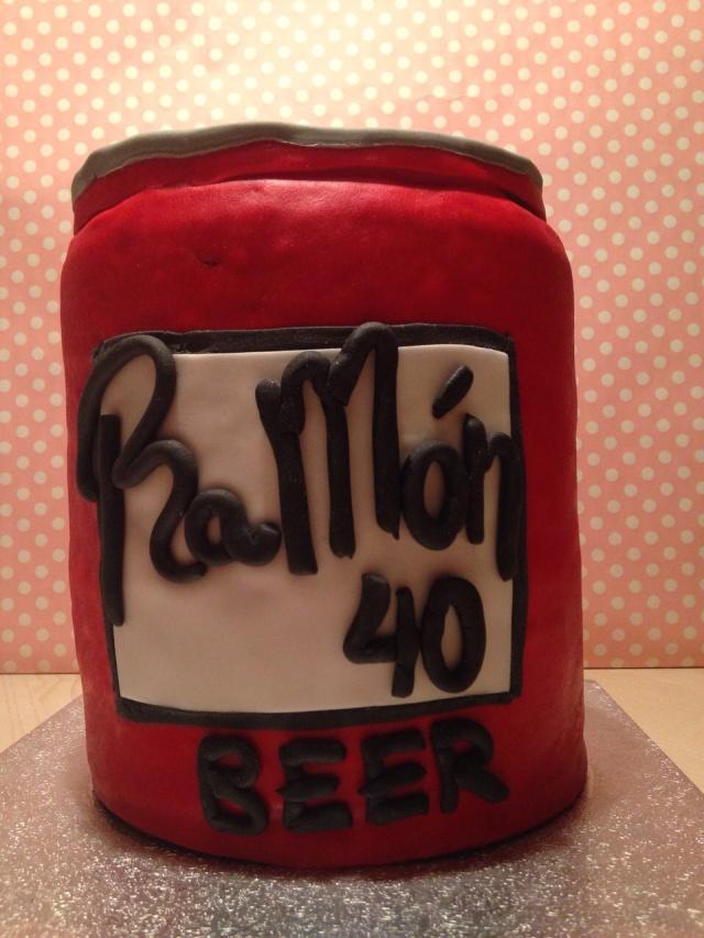 Tarta Cerveza Duff Fondant