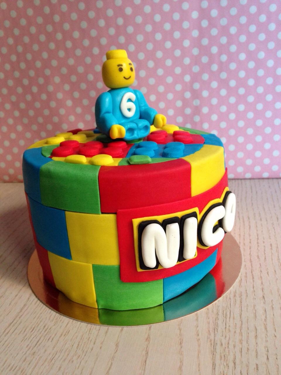 tarta Lego fondant