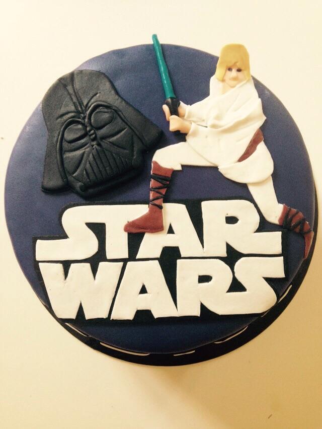 Star Wars tarta fondant