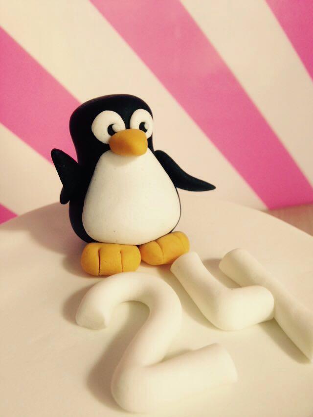 Tarta Fondant Pinguino