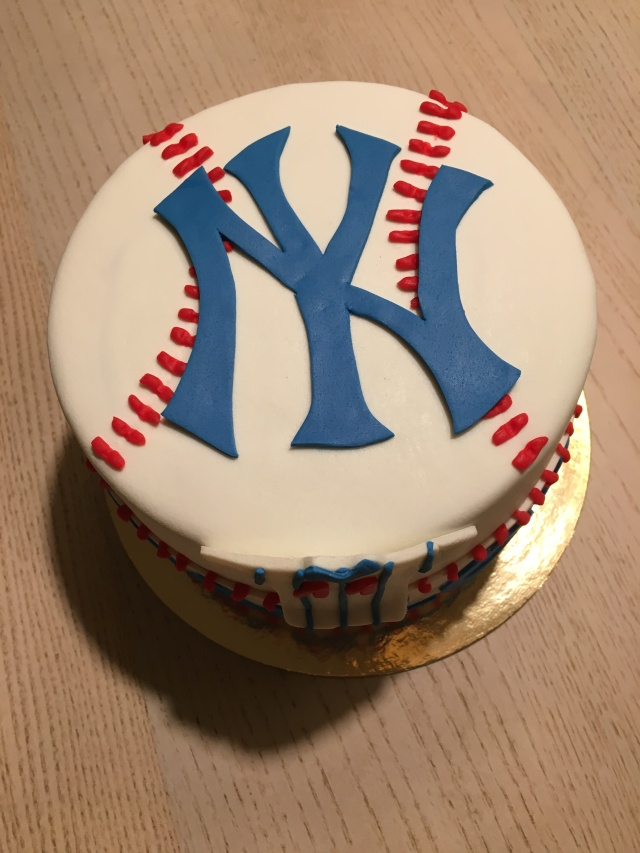 Tarta Fondant Yankees